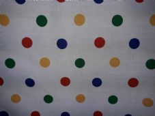 Spotty Fabric Material Poly Cotton